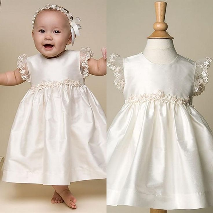 2015 Lovely Hot Sale Cheap Satin And Cap Sleeve with Beads Infant Baptism Gown Cute Kids Christening Dresses for Baby Girls And Boys Online with $67.67/Piece on Enjoyprom's Store | DHgate.com
