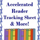 #AR This is an AR (Accelerated Reader) tracking sheet and bookmark I created for my primary students. Set Includes: - 2 AR Tracking Sheets (1 sheet...