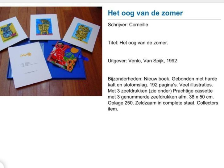 Het oog van de zomer Corneille www.kunstenart.nl