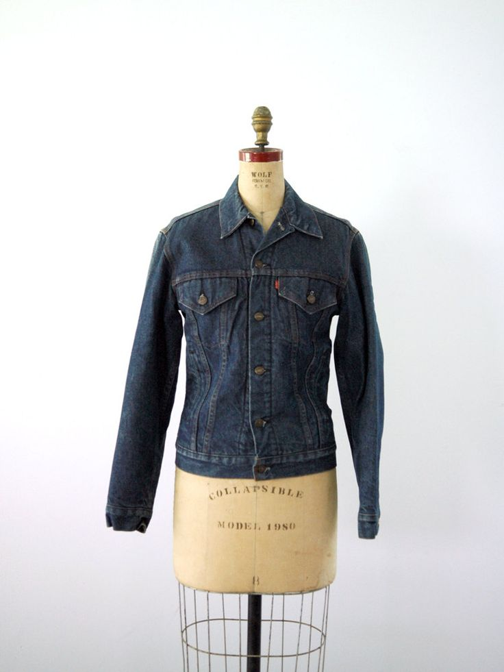 1970s Levis Denim Jacket / Flannel Lined Jean Jacket via Etsy.