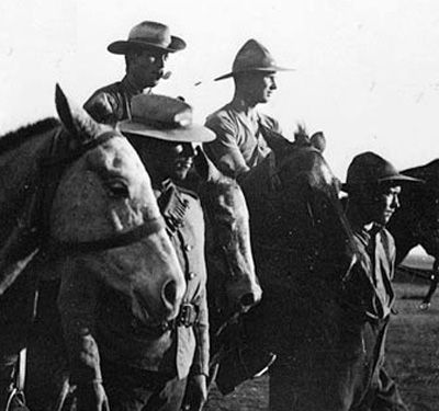 Except for Canada's First Contingent, which wore cork helmets, the Stetson was issued to all Canadian units sent to South Africa. It became the piece of uniform most readily identified with Canadians, and served to distinguish them from other imperial troops serving in the British Army in South Africa.