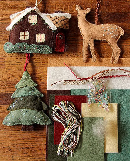 Walk in the Woods Ornament Set Kit from Posy Gets Cozy