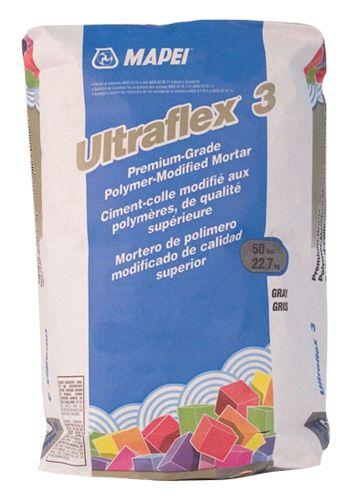 ULTRAFLEX+3+:+Ultraflex+3+est+un+ciment-colle+monocomposé,+hyperperformant,+super+flexible+modifié+aux+polymères+et+de+qualité+supérieure,+servant+à+l`installation,+à+l`intérieur+ou+à+l`extérieur,+des+pierres+de+formes+variées+et+de+carreaux+de+céramique,+de+porcelaine+et+de+grès.+présente+une+teneur+particulièrement+élevée+en+polymères+secs+de+formule+exclusive,+résultant+en+une+force+d`adhérence+supérieure+sans+nécessiter+d`additif+au+latex.
