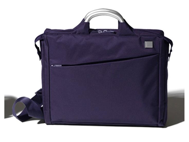 Fransız tasarım markası Lexon'dan mor Evrak/Laptop Çantası, Airline Document Bag Purple by Promart-Promotion