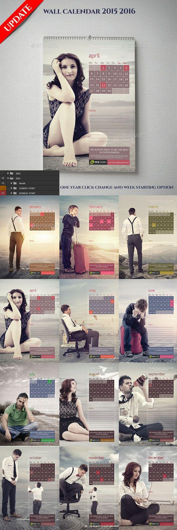 Wall Calendar 2015 And 2016 - Calendars Stationery