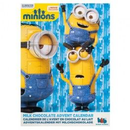 Minions design Advent Calendar. Count down the days till Christmas with a chocolate a day.