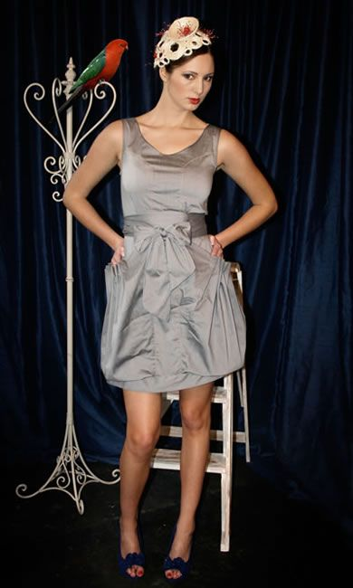 Princess Pocket Dress - Silver