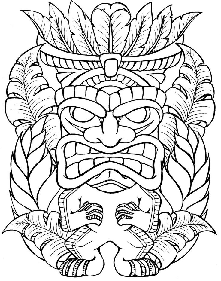 tiki man coloring pages - photo#15