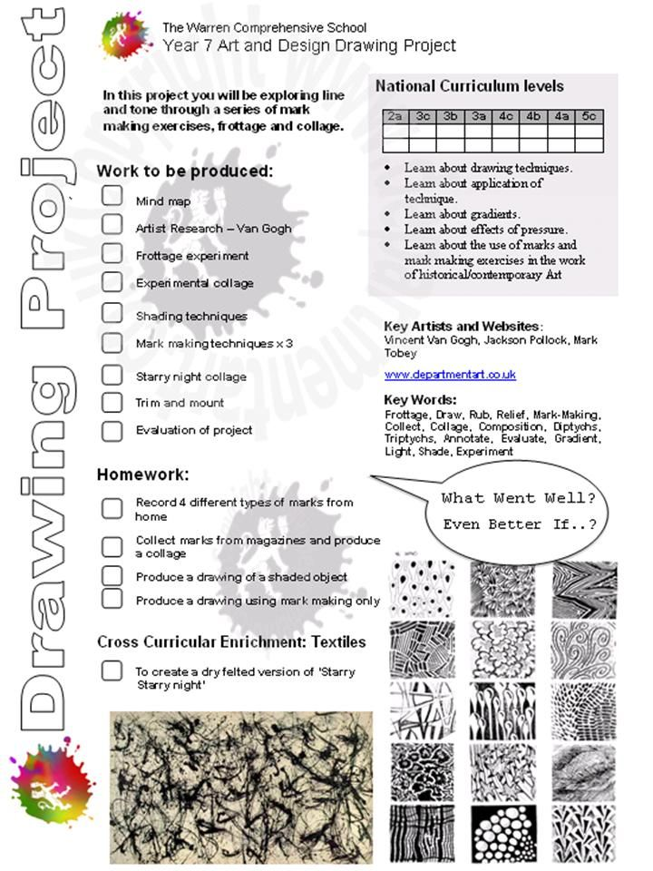 Year 7 | Drawing project brief 2011 | The Warren Comprehensive School