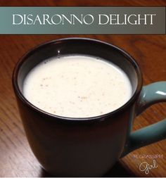 Florassippi Girl: Disaronno Delight - A warm and creamy drink with just a subtle hint of winter flavors like amaretto, cinnamon, and nutmeg. Perfect for relaxing by the fire!