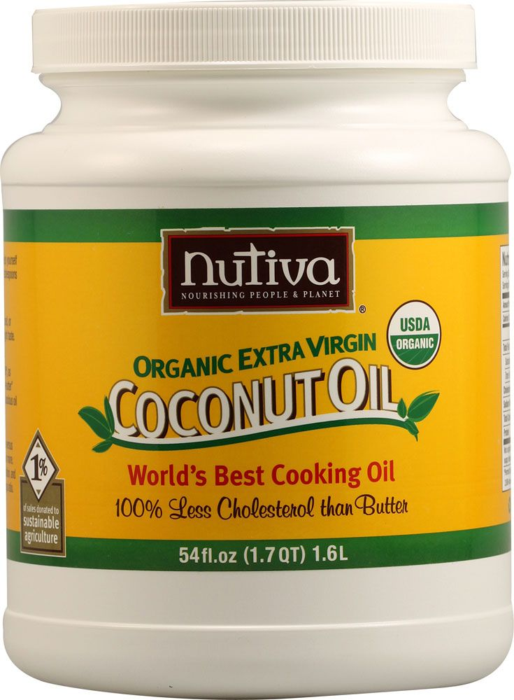 Nutiva Extra Virgin Coconut Oil Organic - great to cook with, great to use as a butter substitute, and it is awesome to moisturize your hair with (deep condition, let it sit for 20 minutes, wrapped in a warm towel & a shower cap, then rinse) - it's like the Macguyver of food products