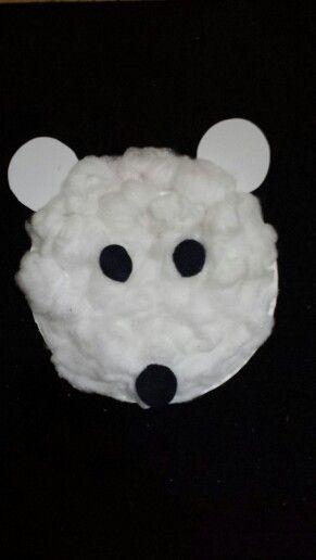 how to make a polar bear out of cotton balls