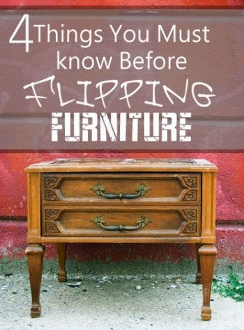 What You Should Know Before You Flip Furniture