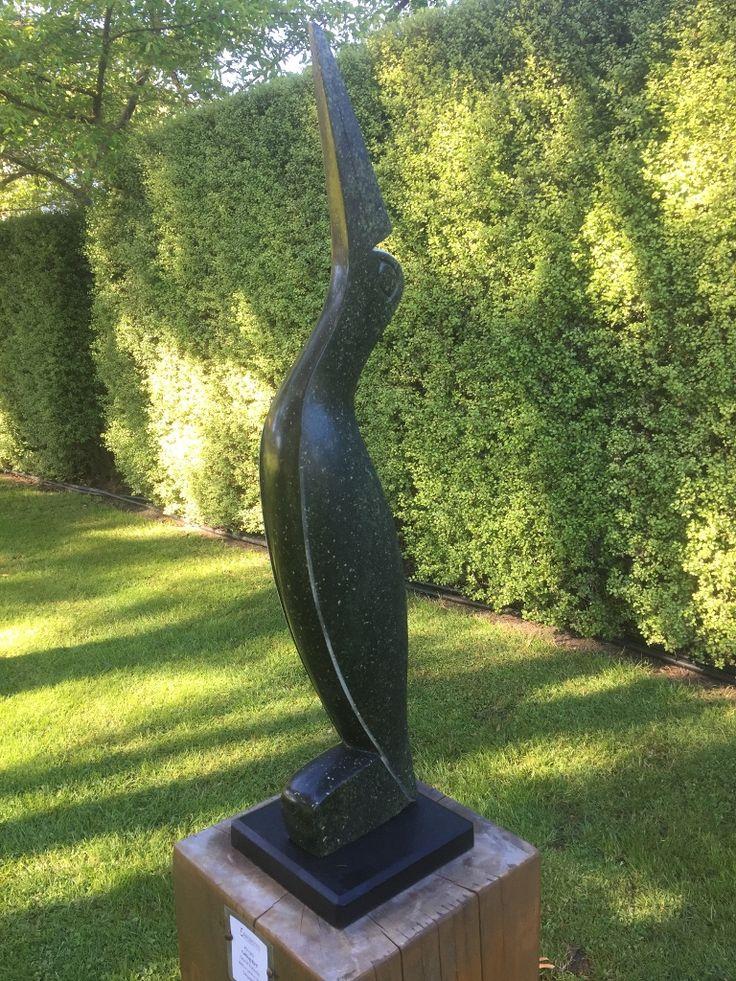 #71-302  'Calling Bird' by Taurai Rukodzi - Serpentine - 80cmh x 30w x 30d - $580