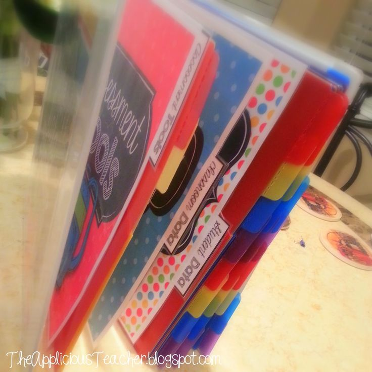 DIY: Student Data Binder, I LOVE this organized binder ...