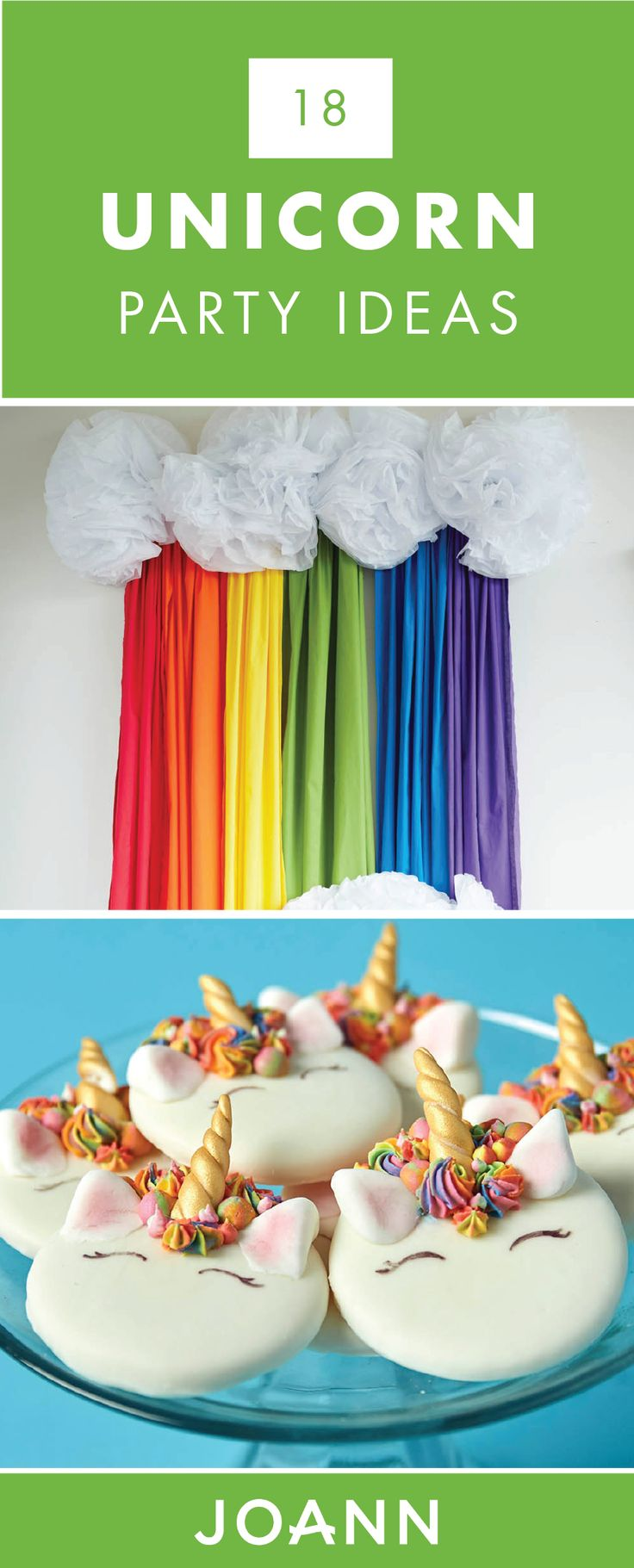Make your kid's birthday celebration a magical one with the help of these 18 Unicorn Party Ideas from JOANN. From tasty cookies to rainbow decorations, you are sure to find everything you need to make this occasion unforgettable.