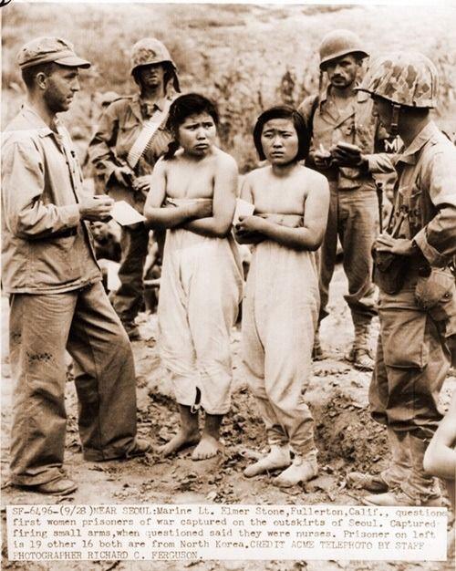 한국 6.25 전쟁 당시 북한군 여성 포로 - 유용원의 군사세계