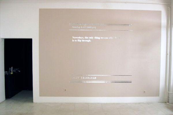 Monthly Evaluations_Sunday, 8 March 2009_Nova Gallery, Zagreb