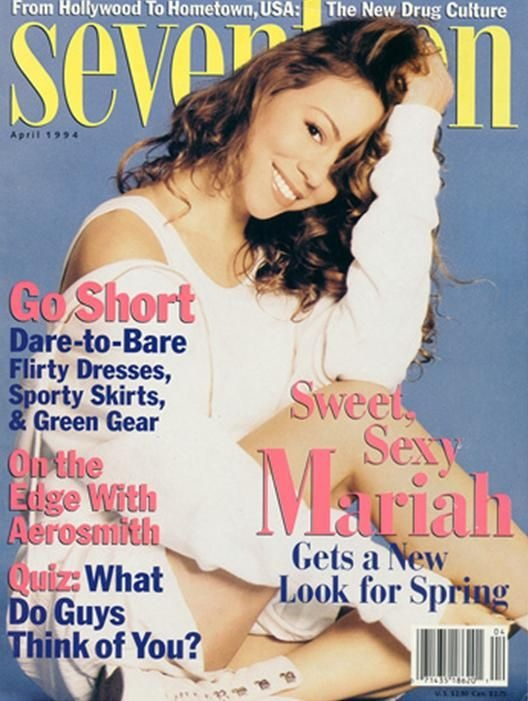 Mariah. this was a crazy cover. she only wanted necklines that zipped up.