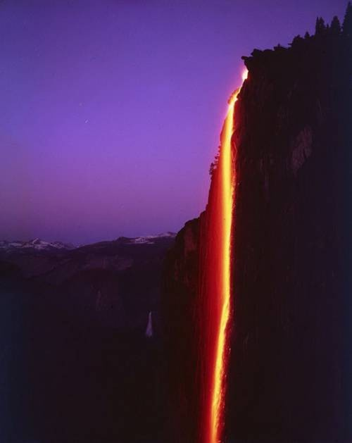 Yosemite Park   Fire Falls  Camp Curry 1965