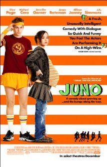Ellen Page, Michael Cera, Jennifer Garner. Director: Jason Reitman. IMDB: 7.6 __________________________ http://en.wikipedia.org/wiki/Juno_(film) http://www.rottentomatoes.com/m/juno/ http://www.metacritic.com/movie/juno http://www.tcm.com/tcmdb/title/644570/Juno/ http://www.allmovie.com/movie/juno-v356873