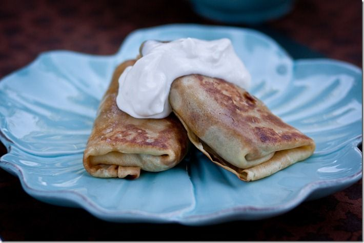 Nalisniki with Meat - Russian crepes both with meat filling and sweet filling.