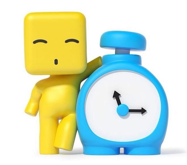 YELLOW stuby with clock