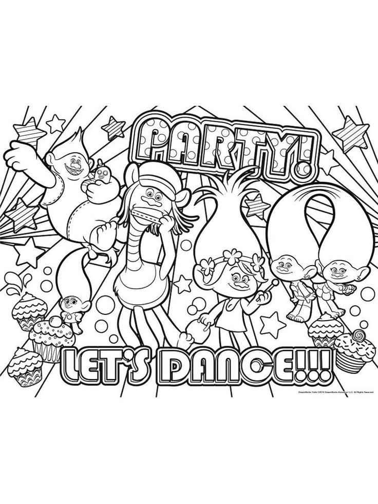 Trolls Coloring Pages Pdf 2021 At Coloring Pages - Vote.fudge.jp
