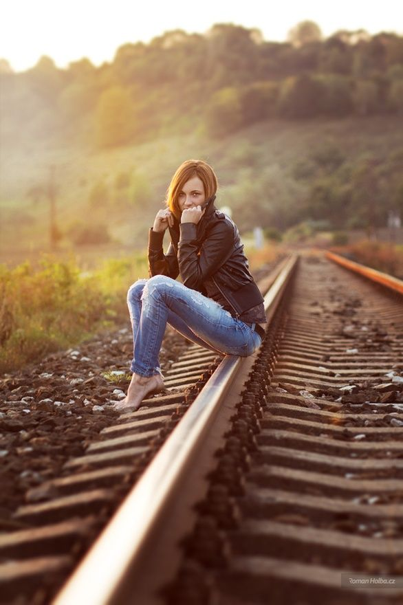 There are so many train track pictures - I like how this one is unique