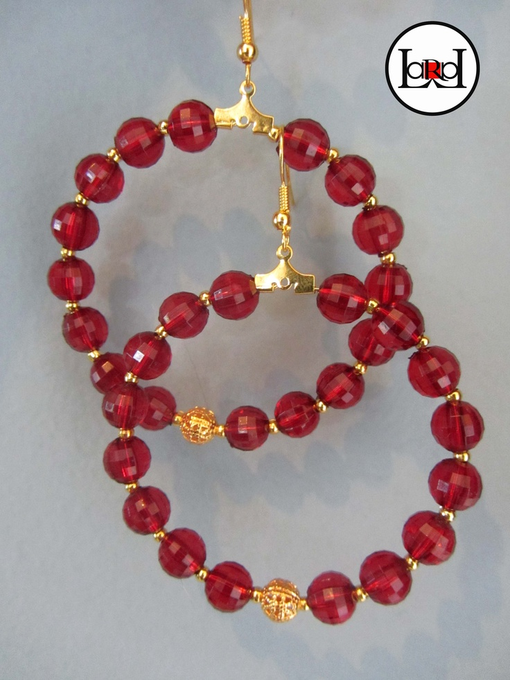 LARA ART Red earrings