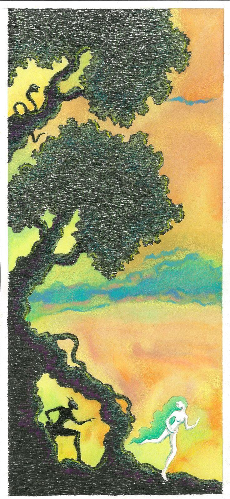 """""""L'Apres Midi d'un Faune"""", 2013  4-La bellezza d'intorno confonde in errore. China, acquerelli, pastelli a cera - Ink, watercolors, wax crayons."""