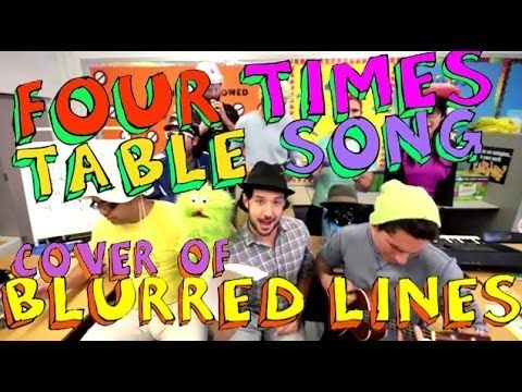 Four Times Table Song (Blurred Lines Cover) with Classroom Instruments - YouTube
