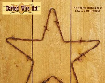 Items similar to Rustic barbed wire wreath on Etsy