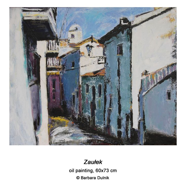 """""""Alley"""" - oil painting"""