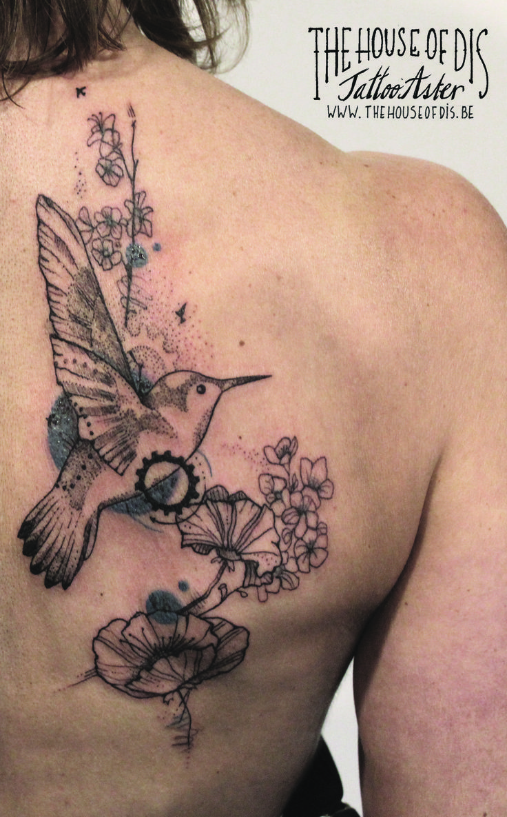 tattoo aster the house of dis graphicaltattoo fineline kolibritattoo hummingbirdtattoo. Black Bedroom Furniture Sets. Home Design Ideas