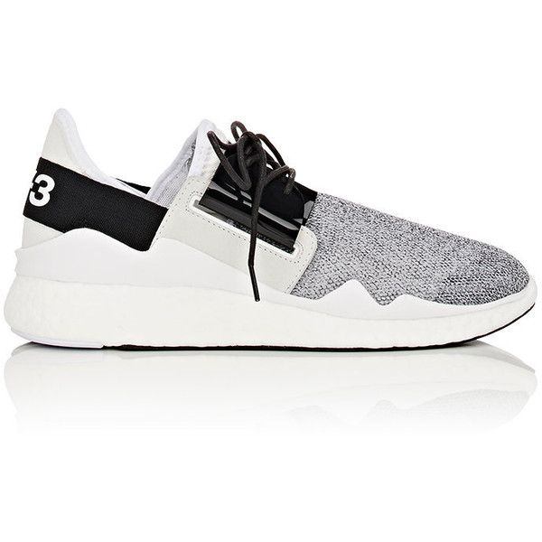Y-3 Women's Chimu Boost Sneakers (1.445 RON) ❤ liked on Polyvore featuring shoes, sneakers, white, lace up sneakers, vintage sneakers, white low top sneakers, mesh sneakers and y3 shoes