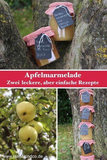 Hier findet Ihr zwei leckere, aber einfache Rezepte für Apfelmarmelade, wie sie schon die Oma gemacht hat. Für den Thermomix oder den Kochtopf...