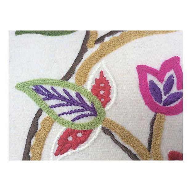 Pierre Frey Embroidered Floral Pillow - Image 3 of 6