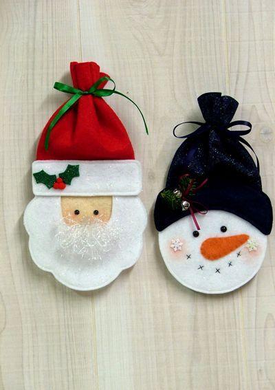 Santa and Snowman Treat Bags                                                                                                                                                                                 Más