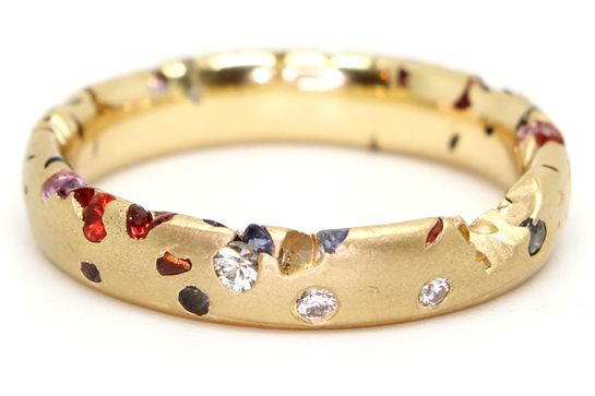 Confetti ring by Polly Wales | selected by @moda_rama