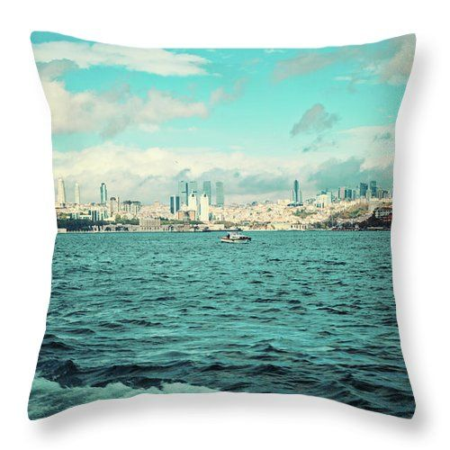 Beautiful Istanbul By Svetlana Yelkovan Throw Pillow #SvetlanaYelkovanFineArtPhotography #pillow  #ArtForHome #FineArtPrints #Istanbul #sea