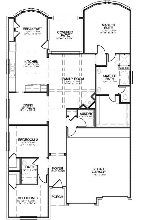 Megatel homes floor plan melrose ii 1899 square feet for Melrose house plan