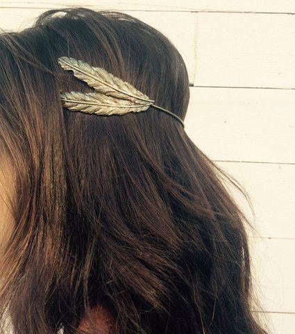 Boho Head Crown,  Feather Headband, Hair Comb, Boho Headpiece, Hair Halo, Boho Hair, Boho Wedding