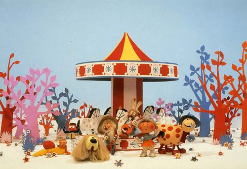 Magic Roundabout - I was mesmerized by the flowers on the ground