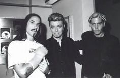Anthony Kiedis, David Bowie and Johnny Depp three of my most favorite people on the planet hanging out together.