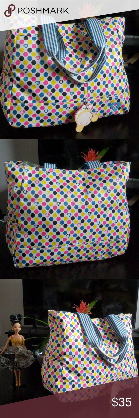 Harajuku Lovers tote Harajuku Lovers polka dot tote Pink blue yellow and black p…
