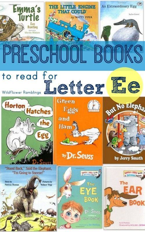 preschool books for the letter e - Wildflower Ramblings