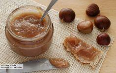 Cómo hacer dulce de castañas. Receta que incluye fotografías del paso a paso, consejos y sugerencias de degustación. Recetas de postres, dulces...