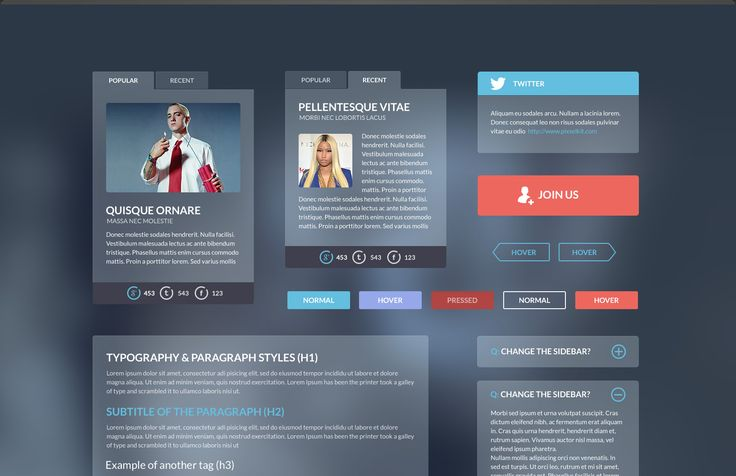 The Iceberg UI kit will make any website stand out because of it's fresh, delicate and alluring design. The modern, elegant layout is ideal for a website that needs a contemporary feel.