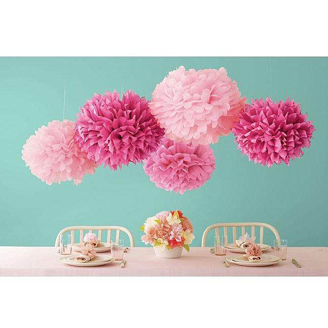Martha Stewart Pink Pom Poms Set